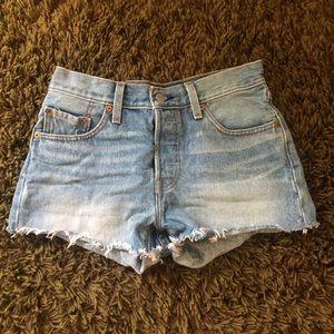 Levi's 501 high waisted shorts